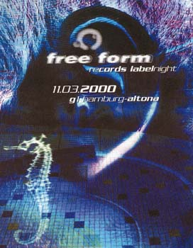 Flyer freeform record labelnight