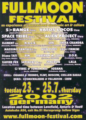 Flyer fullmoon festival 2002/07