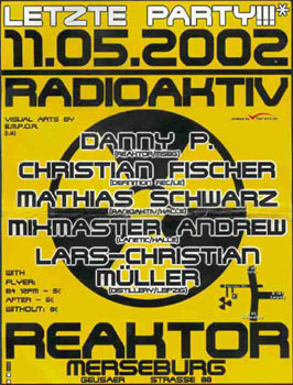 Flyer radioaktiv techno party