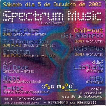 Flyer spectrum music label party – open air