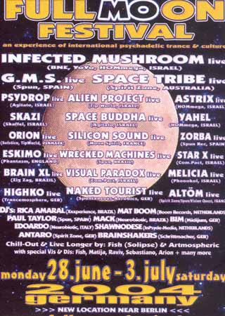 Flyer fullmoon festival 2004/07