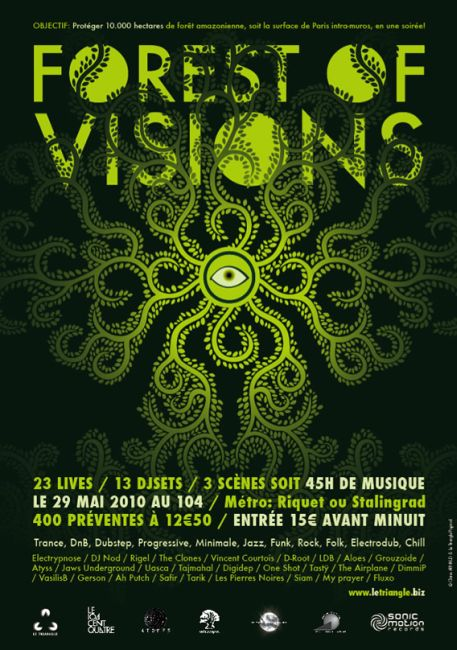 Flyer forest of visions