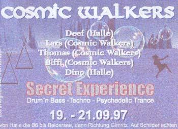 Flyer secret experience open air 1997/09