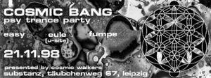 Flyer cosmic bang 1998/11