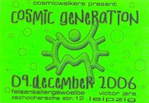 Flyer cosmic generation